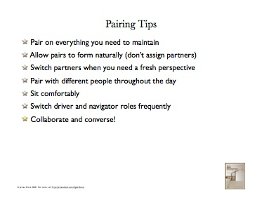'Pairing Tips' poster
