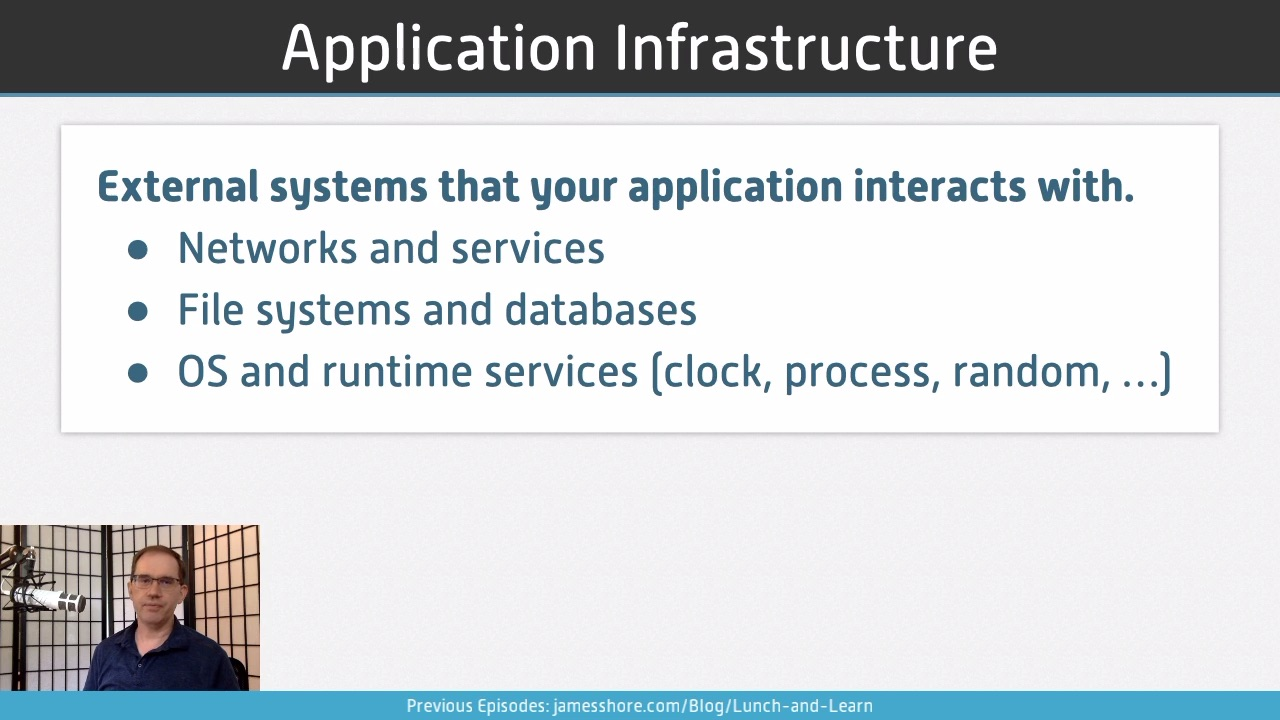 "Screenshot of ""Application Infrastructure"" episode"
