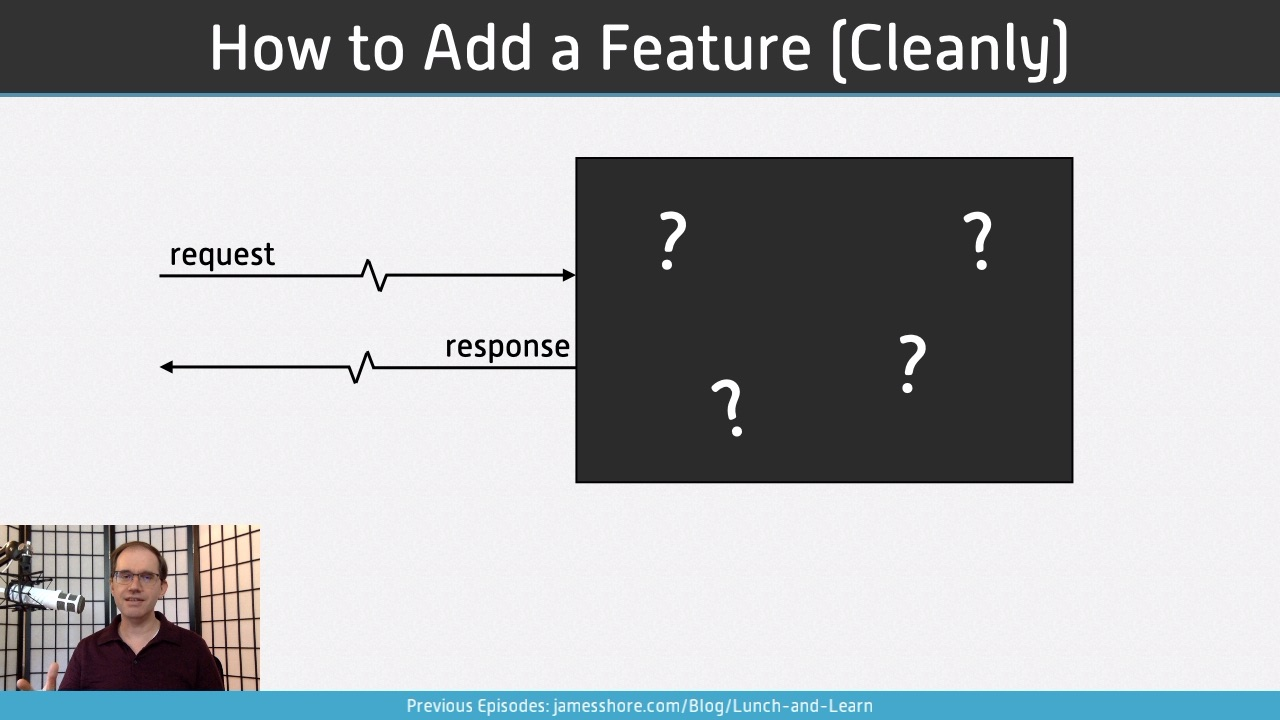"Screenshot of ""How to Add a Feature (Cleanly)"" episode"