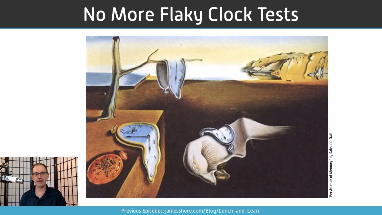 "Screenshot of ""No More Flaky Clock Tests"" episode"