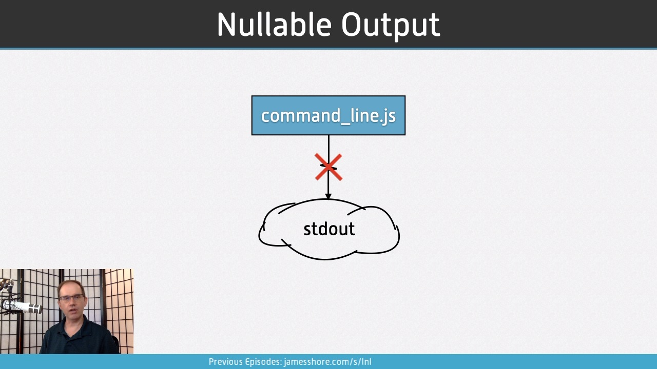 "Screenshot of ""Nullable Output"" episode"