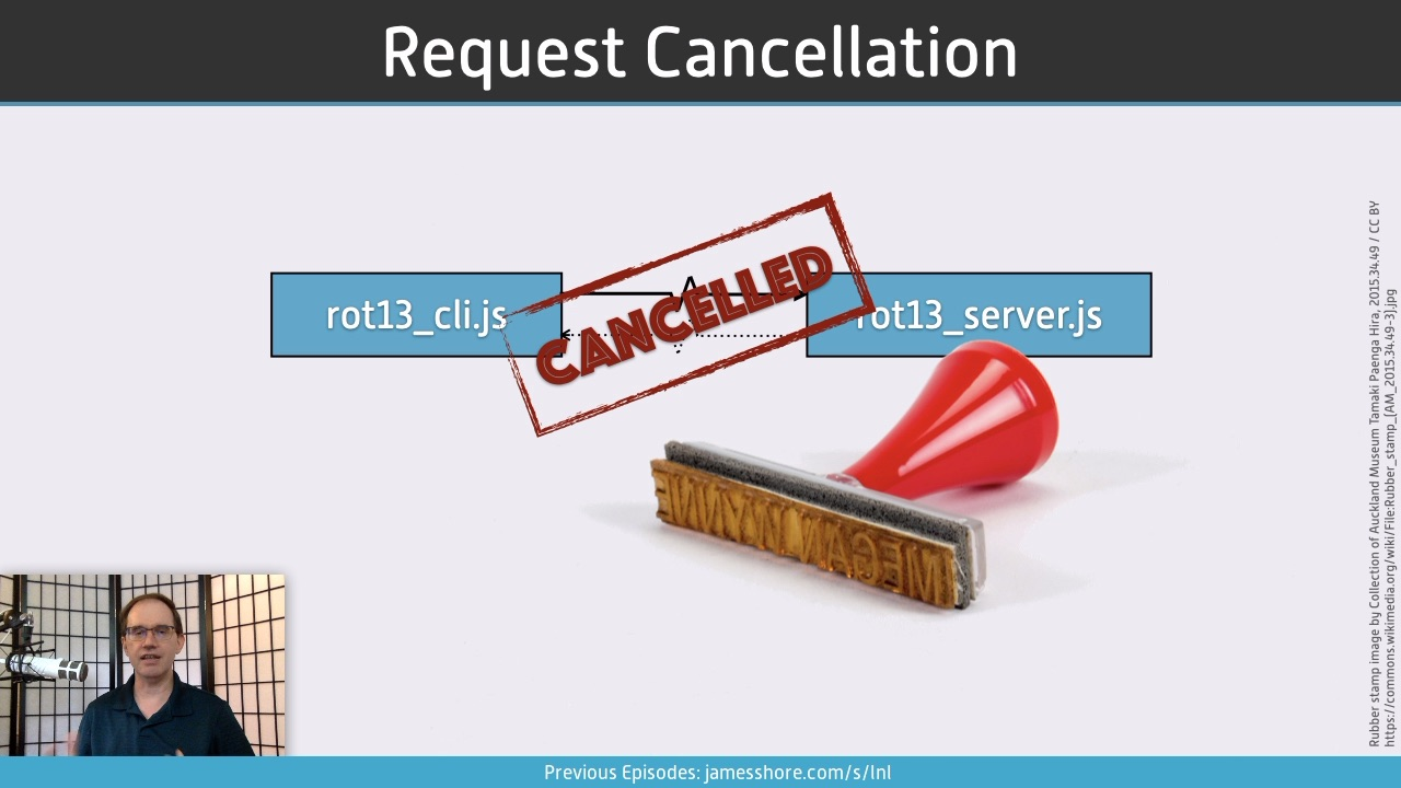 "Screenshot of ""Request Cancellation"" episode"