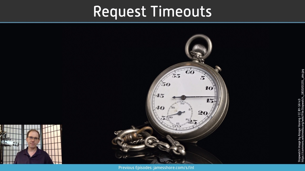"Screenshot of ""Request Timeouts"" episode"