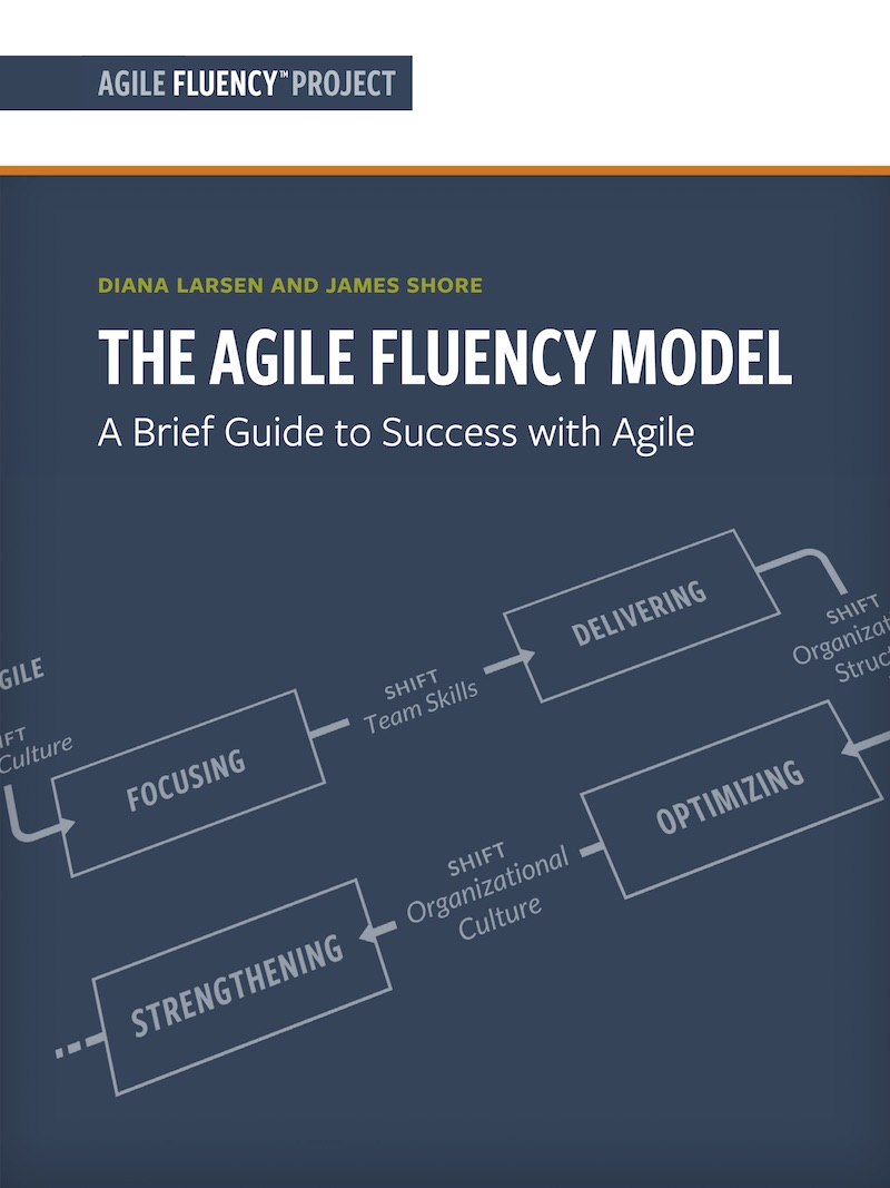 """The Agile Fluency Model"" essay cover"